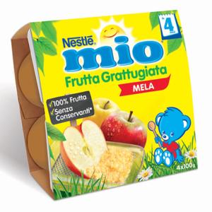 MIO FRUTTA GRATTUGIATA MELA 4X100GR