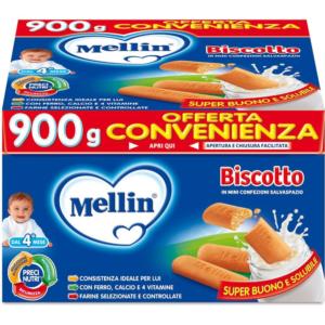 MELLIN BISCOTTO IN MINI CONFEZIONI 900G
