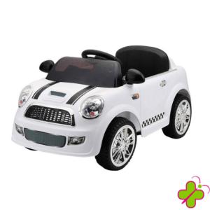 Auto Elettrica Mini Cooper Bianca Baby PER BAMBINI