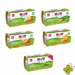 HIPP OMOGENEIZZATO VERDURE 2X80 VARI GUSTI BIO
