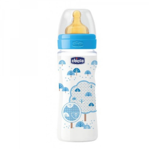 CHICCO BIBERON 330ML CAUCCIU' FAST BOY