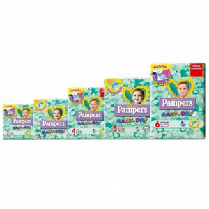 Pampers pannolini baby-dry tutte le taglie