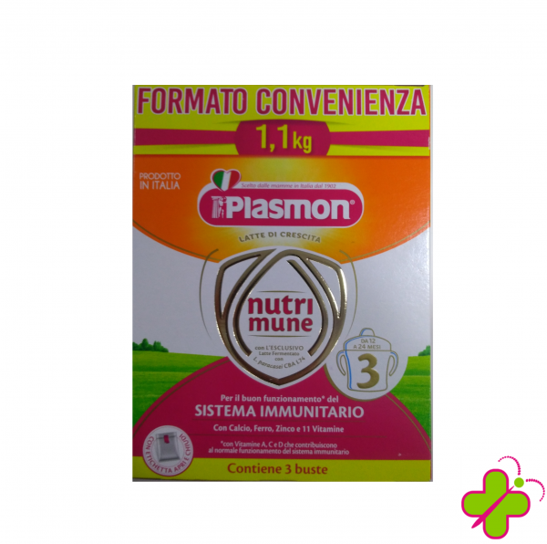 PLASMON LATTE NUTRIMUNE 3 POLVERE 1,1 Kg. formato convenienza
