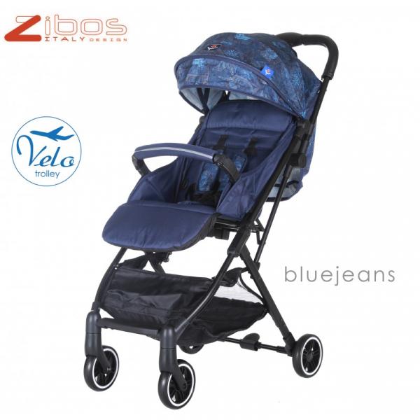 Zibos Passeggino VELO JEANS leggero reclinabile accessoriato