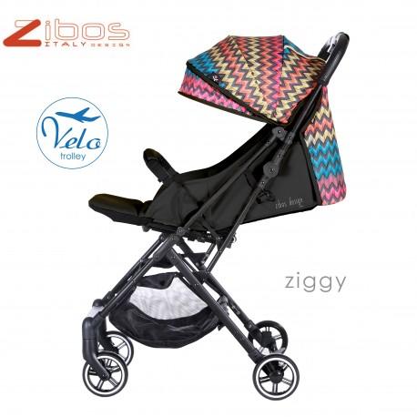 Zibos Passeggino VELO zippy Black leggero reclinabile accessoriato