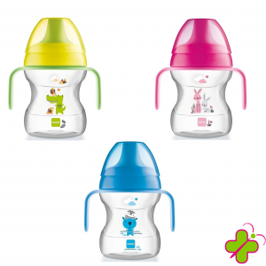 MAM LEARN TO DRINK CUP 6+ MESI- 190ml ROSA-AZZURRA-GIALLA
