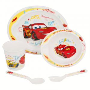 DISNEY SET PAPPA CARS BABY Microonde 5 pezzi