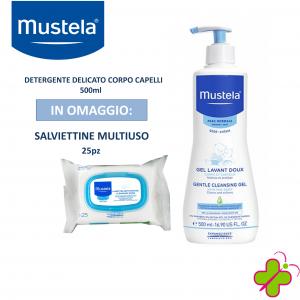 Mustela Detergente Delicato 500ml+25 Salviette Multiuso