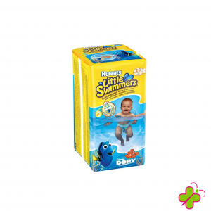 HUGGIES LITTLE SWIMMERS Pannolino Costumino Small Taglia 2-3 (3-8 Kg)