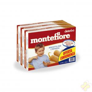 MONTEFIORE BISCOTTI 3X360G FORMATO SCORTA 24 monoporzioni