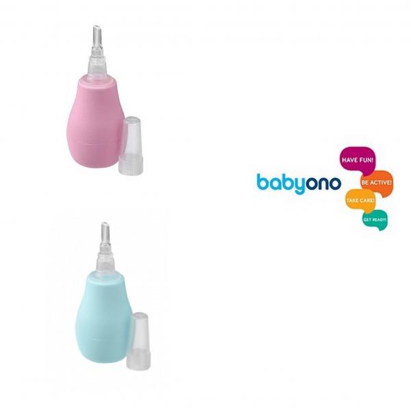 BABYONO Aspiratore Nasale-Rosa e Azzurro-